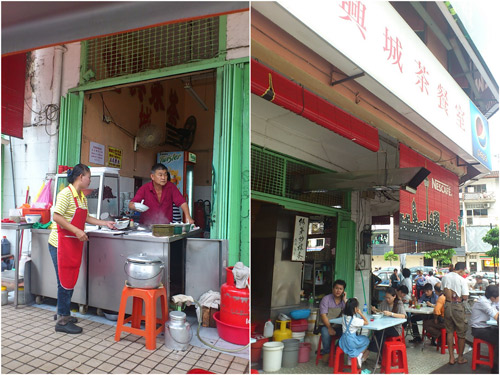 pork ball noodle stall at Win Heng Seng kopitiam