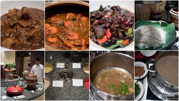 rendang ayam, gulai udang, hati ayam kicap, nasi dagang, home made ice cream, sup ekor, sup mushroom