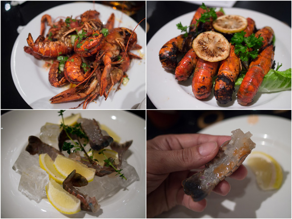 live Australian yabbies stir fried, grilled, or eaten sashimi style
