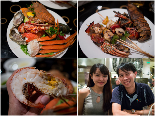 fresh and grilled seafood were my choice, Li Vian joined me at Serena Brasserie