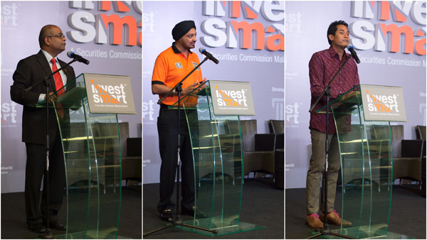 speeches by Mr. Pradeep Nair, Datuk Ranjit Ajit Singh, and YB Khairy Jamaluddin