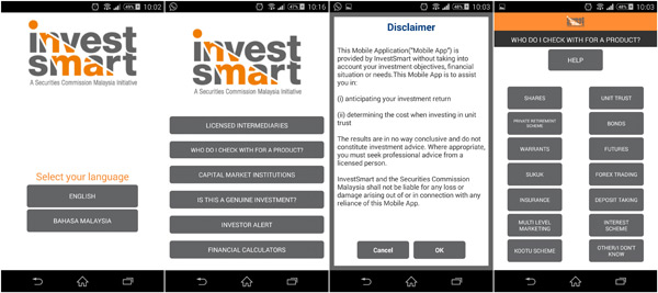 InvestSmart application on iOS and Android devices