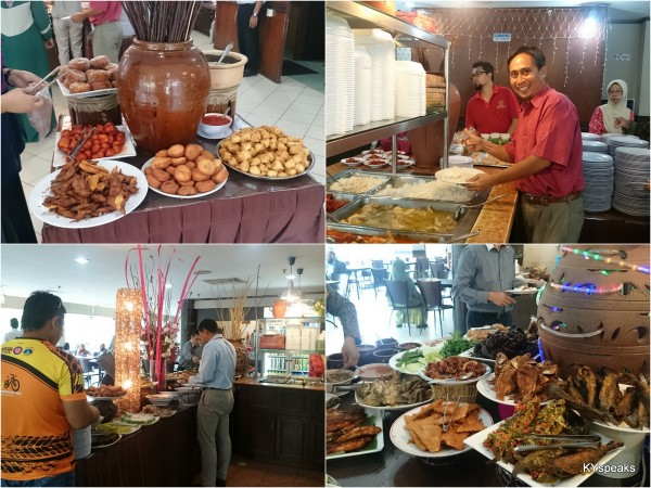 yes, this nasi campur spread looks like a luxurious buffet