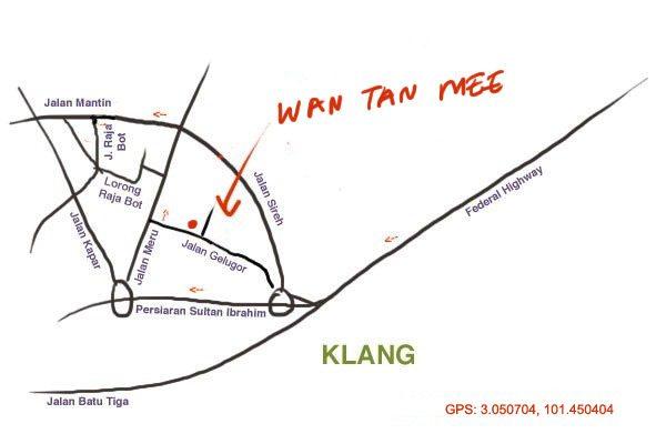 Jalan Gelugor Klang wantan mee map