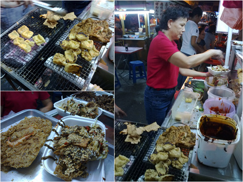 tofu bakar at Jalan Sayur night food court