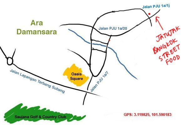 jatujak bangkok street food ara damansara map
