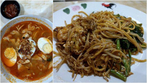 Penang Prawn Mee and Fried Prawn Mee