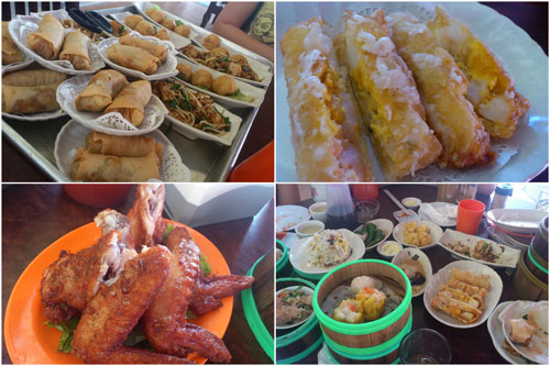 some of the fried stuff, the scallop with salted egg is a must try