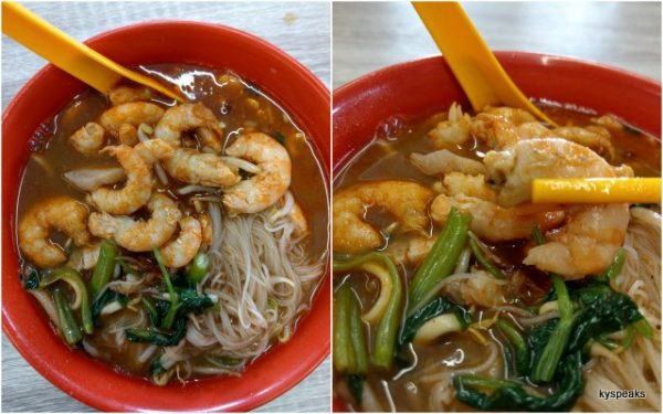 Johnny's Prawn Mee, with extra prawns