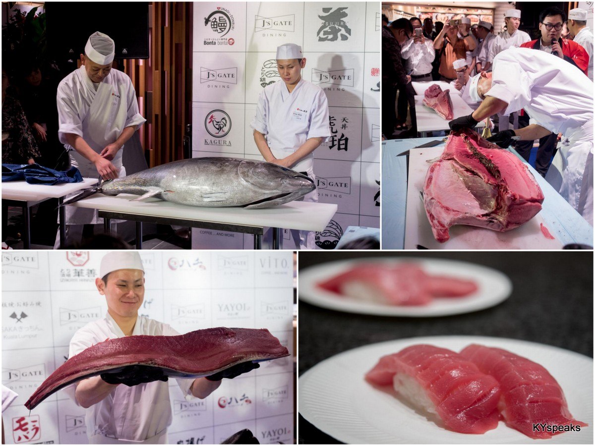 Bluefin tuna carving demonstration