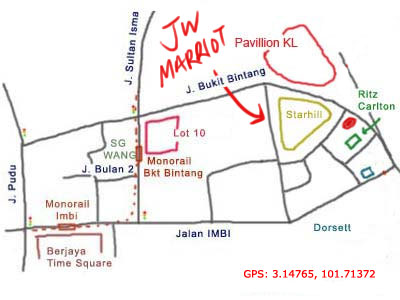 map to JW Marriot KL