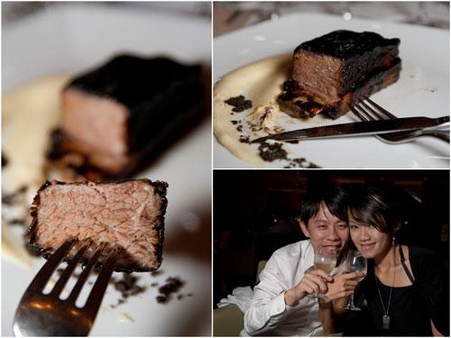 licorice port glazed braised angus beef short rib, smoked potato puree; KY & Haze