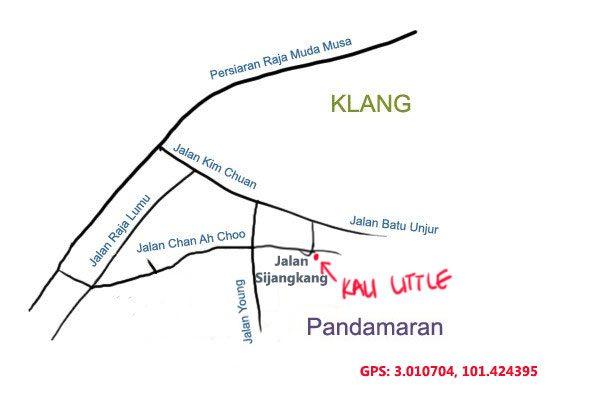 map to Kali Little, Klang