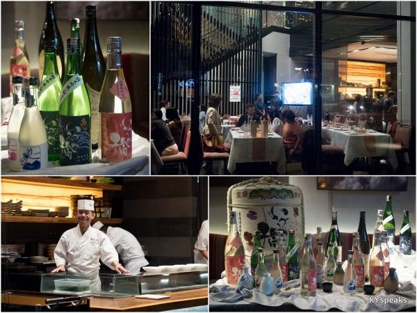 kampachi sake dinner series featuring Izumibashi Sake