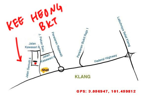 map to Kee Heong BKT, Klang