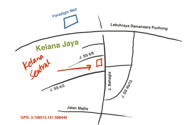 map to Kelana Sentral service apartment