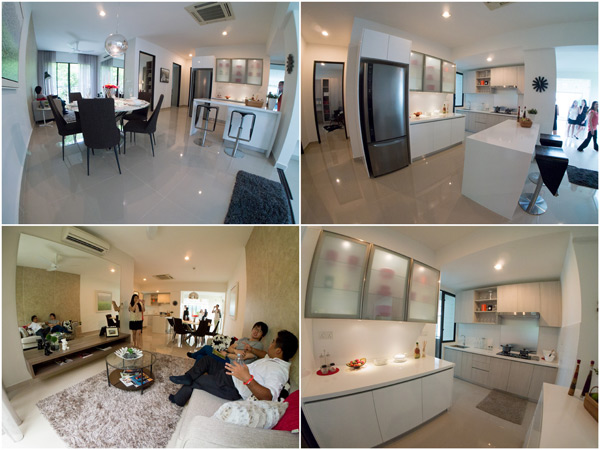 living room and kitchen, Ken Rimba Condominium