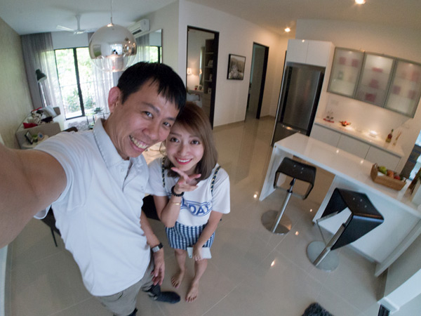 KY & Audrey at Ken Rimba condominium show unit