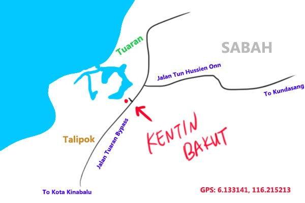 map to kentin bakut, Sabah
