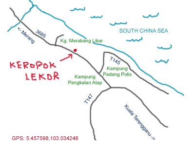 Kerepok Lekor at Kuala  Terengganu map
