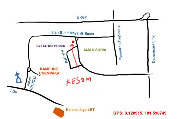 map to Cafe Kesom