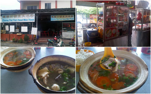 pork tripe soup and mixed pork soup, kopitiam with no name