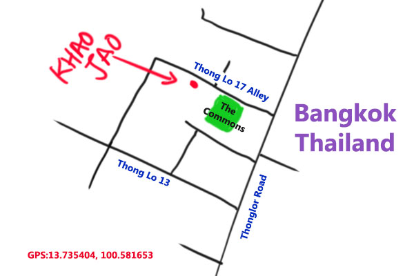 map to Khao Jao Thai Restaurant, Bangkok