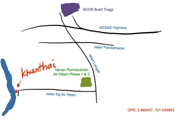 map to Khunthai Klang