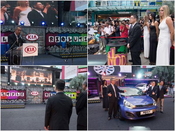Datuk Syed Abdull Hafiz Syed Ahbu Bakar, CEO of Naza Kia Malaysia launched the new Rio