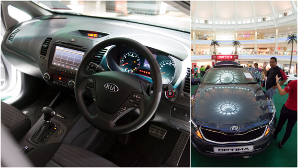 Optima K5 has a  4.3-inch TFT LCD and luxurious interior