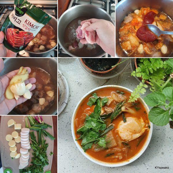 kimchi soup homecooked