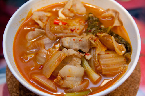 glorious bowl of Kimchi Jiggae