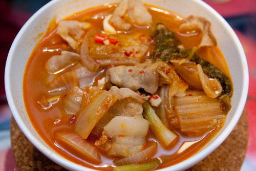 glorious bowl of Kimchi Jiggae