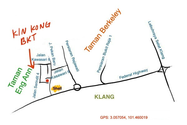 map to Kin Kong at Taman Eng Ann