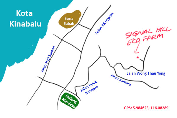 KK eco farm map