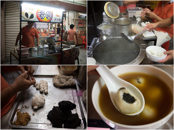 made-to-order black sesame glutinous ball with ginger soup