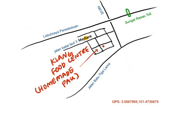 map to Klang food centre