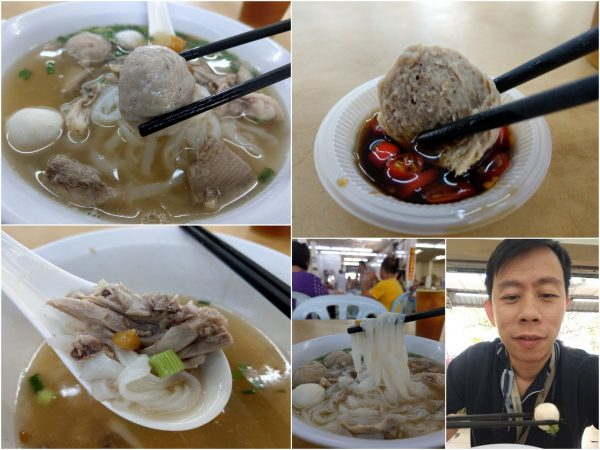 love the meat ball and shredded duck meat