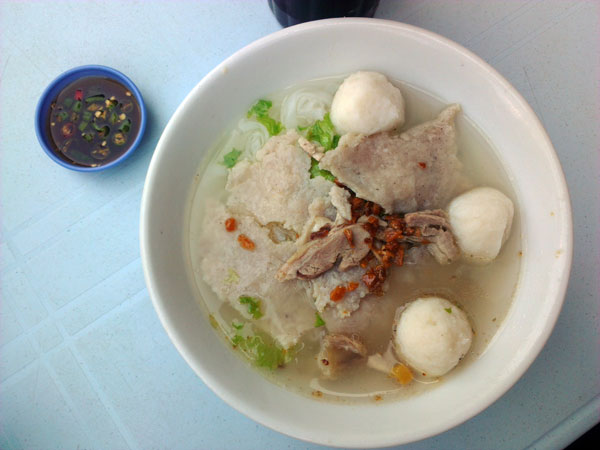 simple, light, and delicious kuih teow soup