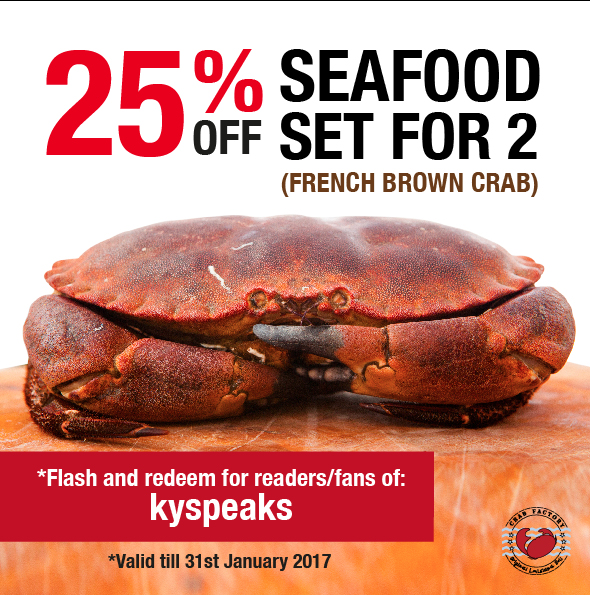 25% off discount seafood set for 2