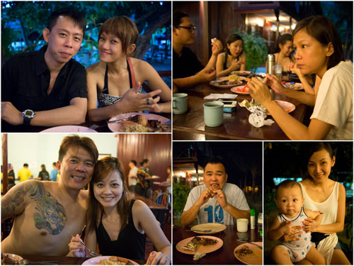 KY, Haze, Terence, Celine, James, baby and mom, Lydia & the rest