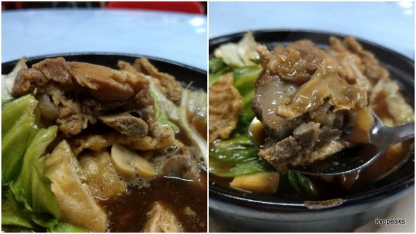 clay pot bak kut teh for two with soft bone ribs