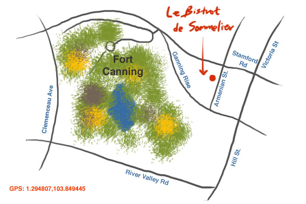 map to Le Bistrot du Sommelier