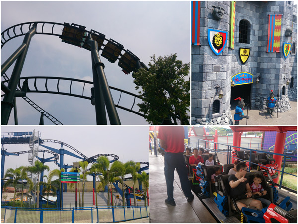 Dragon and Project X roller coasters, thrills!