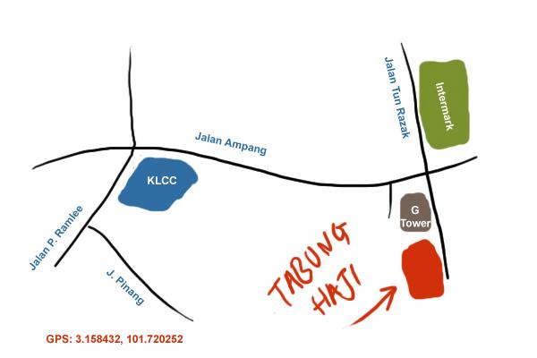 map to Lembaga Tabung Haji