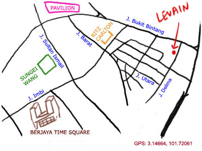 map to LeVain Italian Restaurant