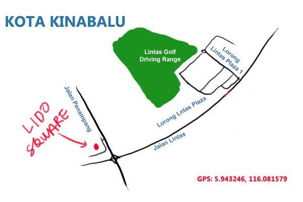 map to Lido Square, Lintas, KK