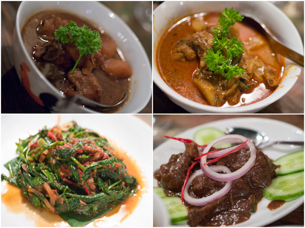 ayam ponteh, nyonya curry chicken, kangkung goreng sambal belacan, ayam sioh