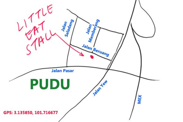map to Little Eat Stall, Pudu