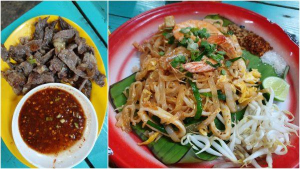 bbq beef, pad thai